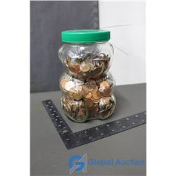 Glass Kraft Jar with Coins