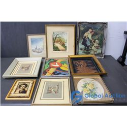 Vintage Framed Picture Collection