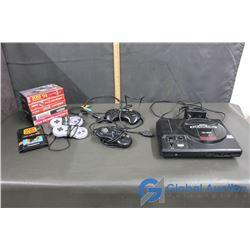 Sega Genesis Console, Controller and Games plus (2) Super Nintendo Controllers