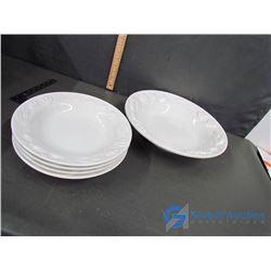 Large White Soup Bowl and (4) Soup Bowl Set