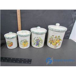 Set of 4 Kitchen Canister Set with Lids