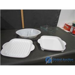 (4) Corning Ware Dishes