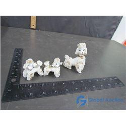 Poodle Dog Ornament Set