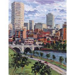 Stan Phelps - VIEW OF CENTRE STREET BRIDGE