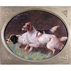John Emms [manner of] - UNTITLED; TWO DOGS