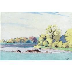 Walter Joseph Phillips - FALL, ASSINIBOINE RIVER