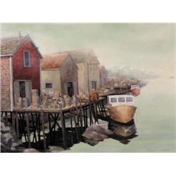 A. Edward Furness - SEA MIST, NEAR PEGGY'S COVE,