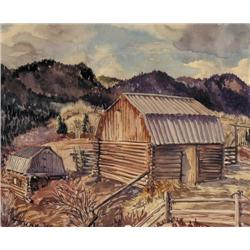 Marion Florence Nicoll - UNTITLED; MOUNTAIN LANDS