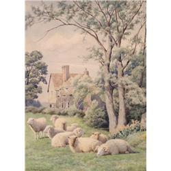 William Sidney Cooper - UNTITLED; RESTING SHEEP