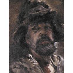 Con Van Suchtelen - SELF PORTRAIT IN A FUR HAT