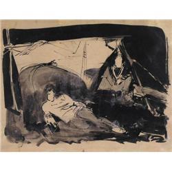 Frederick Horsman Varley - NIGHT CAMP-GARIBALDI