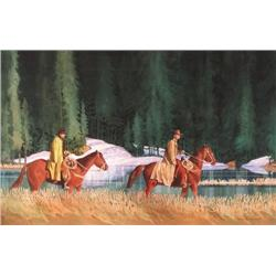 Richard Connor - UNTITLED; TWO COWBOYS ON HORSEBA