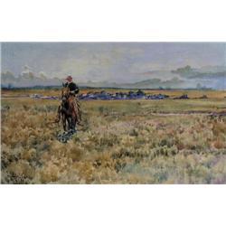 John Sloan Gordon - UNTITLED; COWBOY OUT RIDING