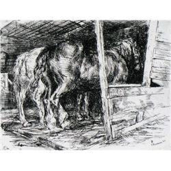 Ernest Neumann - HORSES IN STABLE