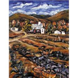 Ruth Mary Eliot - UNTITLED; HOMES IN THE HILLS