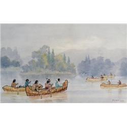 Frederick Arthur Verner - INDIAN CANOEING