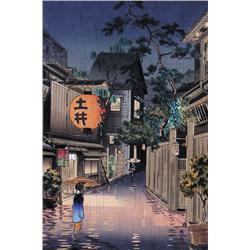Tsuchiya Koitsu - EVENING AT USHIGOME