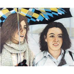 Brock Irwin - UNTITLED; PORTRAIT OF TWO SISTERS