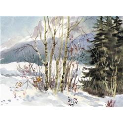 Elaine Fleming - UNTITLED; ASPEN IN THE SNOW UNTI