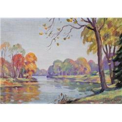 Edward Randolph Glen - UNTITLED; AUTUMN RIVER