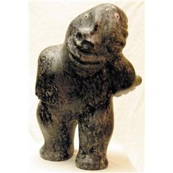 Unidentified Inuit Artist - MAN WITH A STONE BEH