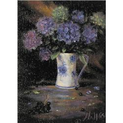 Joan Hall Staseson - UNTITLED; HYACINTHS IN A BLU