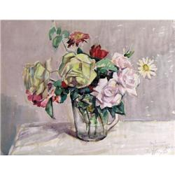 Llewellyn Petley-Jones - UNTITLED; FLOWERS IN A C