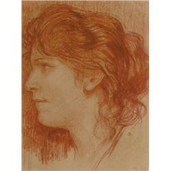 Charles Ernest de Belle - PORTRAIT OF A LADY