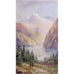 Thomas Mower Martin - LAKE LOUISE AND MOUNT ABERD