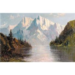Thomas Mower Martin - UNTITLED; MOUNTAINS AND LAK
