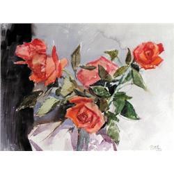 Llewellyn Petley-Jones - UNTITLED; RED ROSES