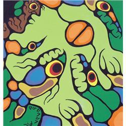 Norval Morrisseau - ARRANGEMENT ON GREEN