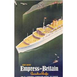 [Travel Poster] - THE NEW EMPRESS OF BRITAIN