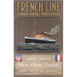 [Travel Poster] - French Line, Compagnie General
