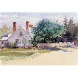 Robert Ford Gagen - UNTITLED; A SHADY COTTAGE