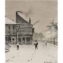 Walter Greaves - SNOW ON THE CHELSEA ENBANKMENT