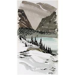 George Weber - UNTITLED; LAKE IN THE MOUNTAINS