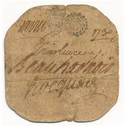 1730 CARD MONEY 3 Livres UNLISTED DATE IN CHARLTON 2019 PROBABLY UNIQUE