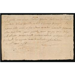Colonial Document: August 14, 1712, Issued by: Antoine Gaulin