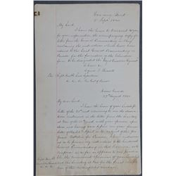 Colonial Document 1840 Canada Addressed to Downing Street