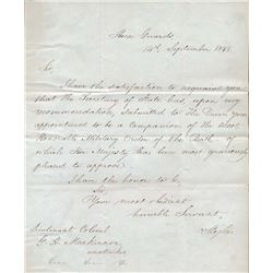 England 1848 Document Issued by Lord Wellington