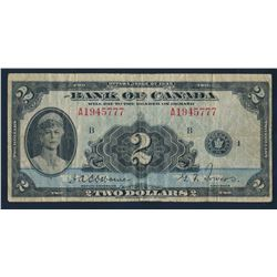 Bank of Canada $2 1935