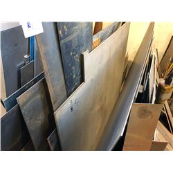 """QUANTITY OF SHEET STOCK W/ 3/8"""" STAINLESS STEEL"""