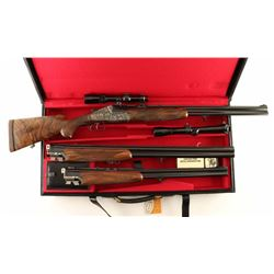 Heym Model 77B-SS 375 H& H, 7x65 & 12 Ga Set