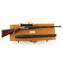 A. Francotte Double Rifle .458 Win & 12 Ga