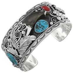 Sterling Silver Sleeping Beauty Turquoise Navajo