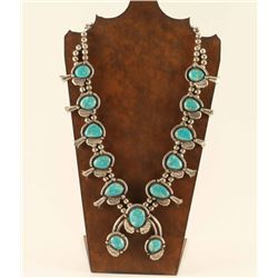 Large Old Pawn Turquoise Squash Blossom