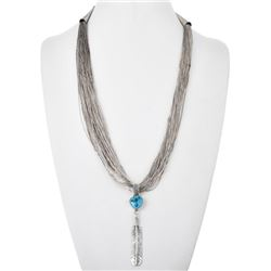 Vintage 100 Strand Liquid Silver Necklace with