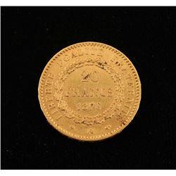 France Gold 20 Francs Lucky Angel