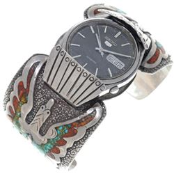 Old Pawn Tommy Singer Navajo Watch Cuff with